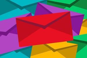illustration de fond de pile d & # 39; enveloppes vecteur