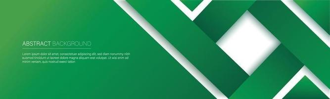 bannière de ligne verte moderne. illustration vectorielle vecteur