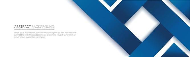 bannière de ligne bleue moderne. illustration vectorielle