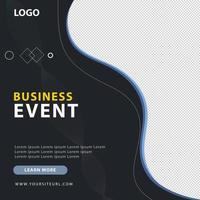 bannière de publication attrayante sur les médias sociaux pour la promotion d'événements commerciaux vecteur