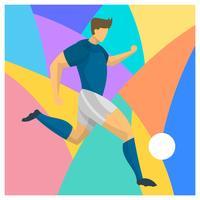 Vecteur de joueur de football abstrait plat