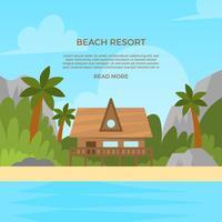 Illustration vectorielle de plage plate Resort vecteur