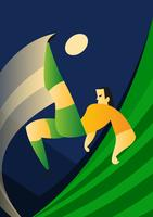 Personnages de football brésiliens vecteur