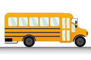 illustrations de bus scolaire arrêté vecteur