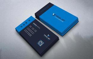 carte de visite bleue simple vecteur