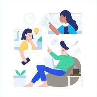 concept d'activités en ligne vecteur