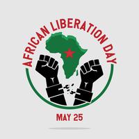 Journée de la Libération africaine vecteur