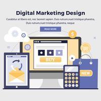 Illustration de conception marketing vectoriel numérique