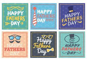 Carte de voeux Happy Fathers Day vecteur