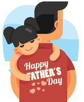 Illustration de la fête des pères heureux vecteur