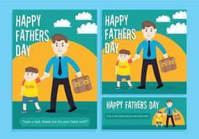 Vecteur de bonne fête des pères