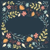 cadre floral simple