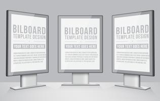 Conception réaliste de panneau d'affichage de vecteur