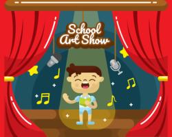 Vecteur de spectacle d'art scolaire