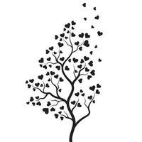 conception d'illustration vectorielle de branche d'arbre amour vecteur
