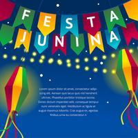 festa junina nuit célébrer le vecteur