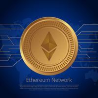 Vecteur de concept de réseau Ethereum