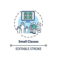 icône de concept de petites classes vecteur