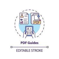 icône de concept de guides pdf vecteur