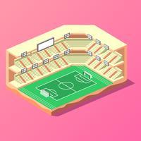 Vecteur de stade de football isométrique