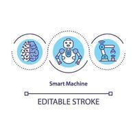icône de concept de machine intelligente vecteur