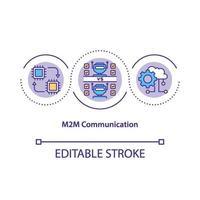icône de concept de communication m2m vecteur