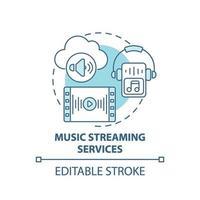 icône de concept de services de streaming de musique vecteur