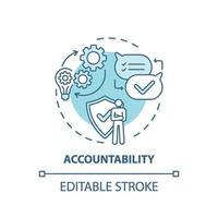 icône de concept de responsabilité vecteur