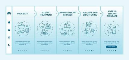 modèle de vecteur d'intégration de routine spa à domicile