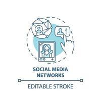 icône de concept de réseaux sociaux vecteur