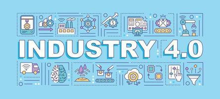 bannière de concepts de mot industrie 4.0 vecteur