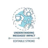 compréhension des messages impact icône concept vecteur