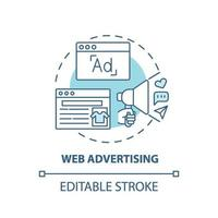 icône de concept de publicité web vecteur