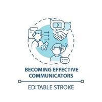 devenir icône de concept de communicateurs efficaces vecteur