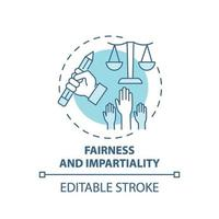 Icône de concept d'équité et d'impartialité vecteur