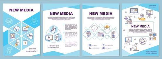 modèle de brochure de nouveaux médias vecteur
