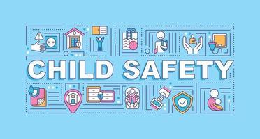 bannière de concepts de mot sécurité enfant