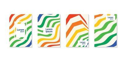 rapport annuel minimal de conception de couleurs vives