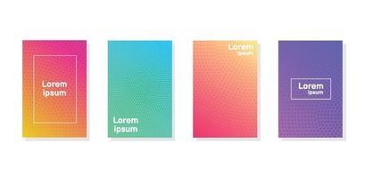 rapport annuel minimal de la collection de design de couleurs vives