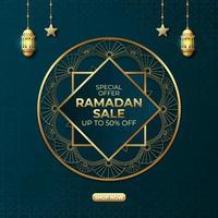 conception de bannière d'annonces de vente ramadan vecteur