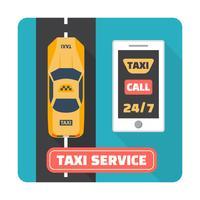 Service de taxi vecteur