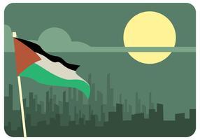 Vecteur de nuit de Gaza