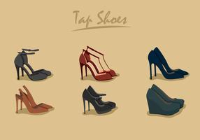 Womens Tap Chaussures vecteur