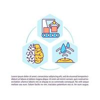 icône de concept de fabrication numérique avec texte vecteur