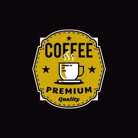 Badge du logo du café