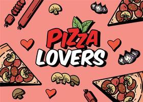 Amoureux de la pizza vecteur