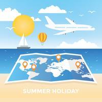 Illustration vectorielle de voyage été vacances