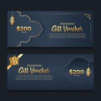 bon cadeau ramadan avec style doré vecteur