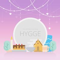 Modèle de cadre d'amour de Hygge