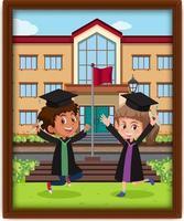 une photo d'enfants en costume de graduation